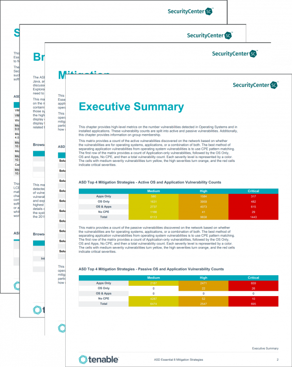 SecurityCenter Report Templates | Tenable™