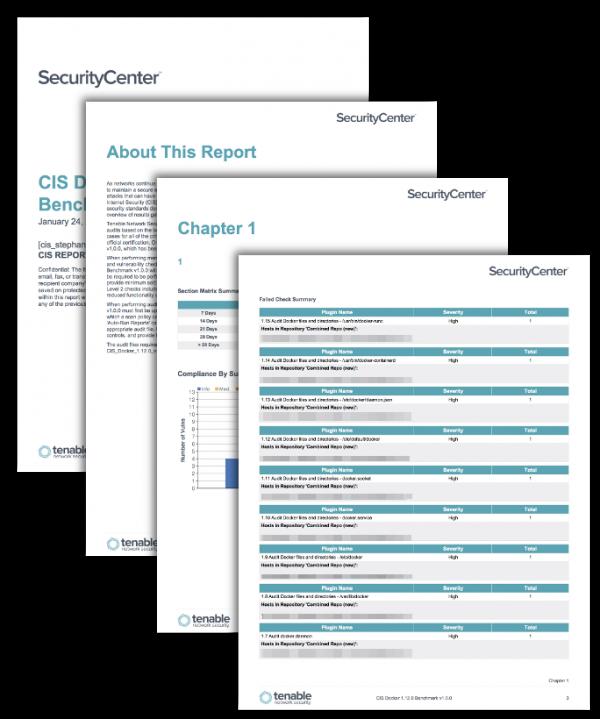 CIS Docker Benchmark Reports Screenshot
