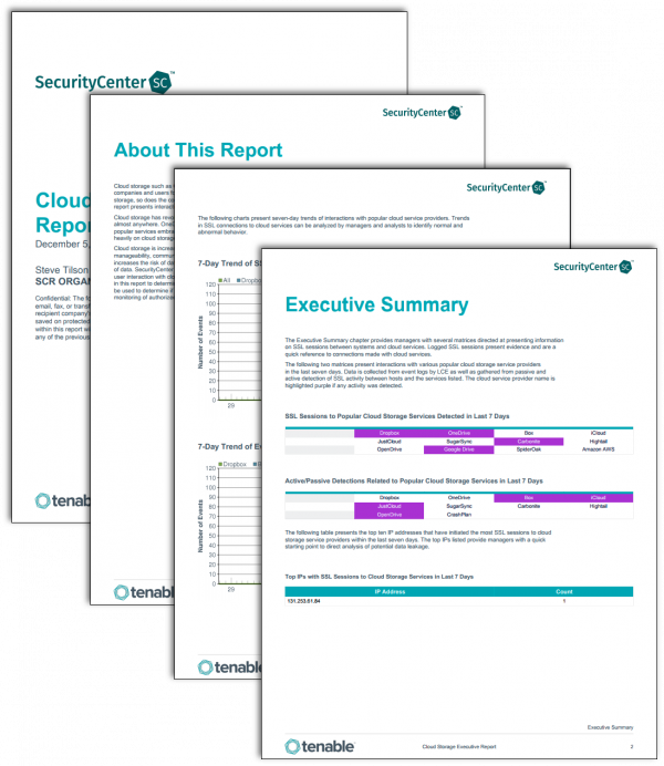 tenable sc report templates tenable