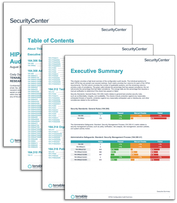 HIPAA Configuration Audit Summary