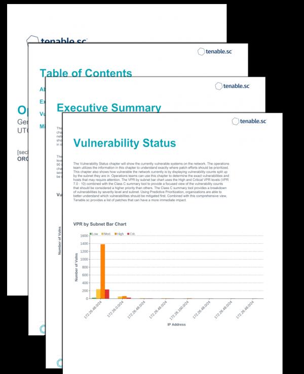 Operations VPR Summary Screenshot