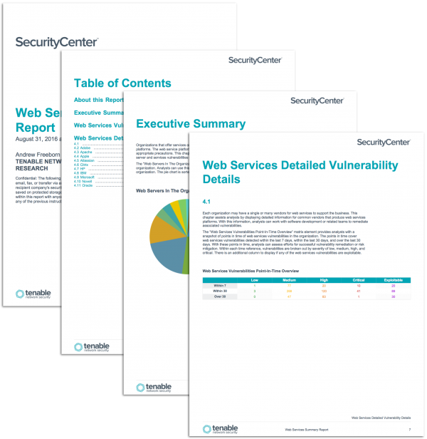 Web Services Summary Report