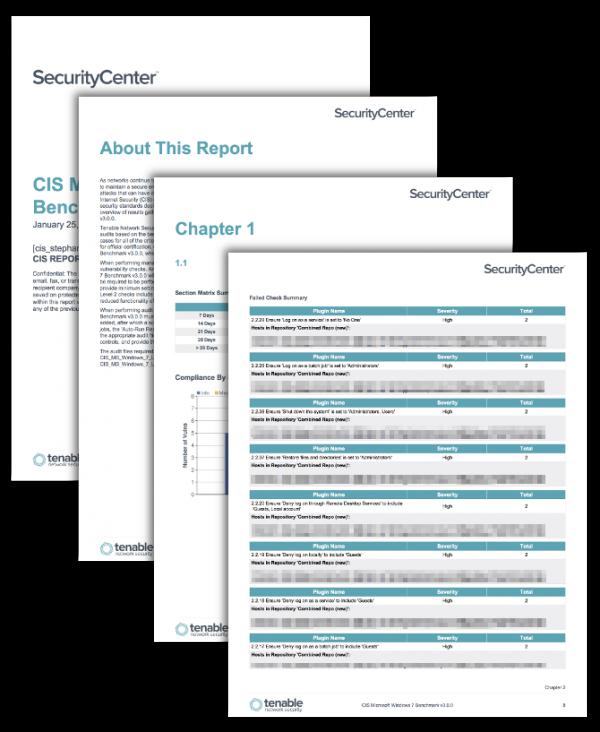 CIS Microsoft Workstations Benchmark Reports Screenshot